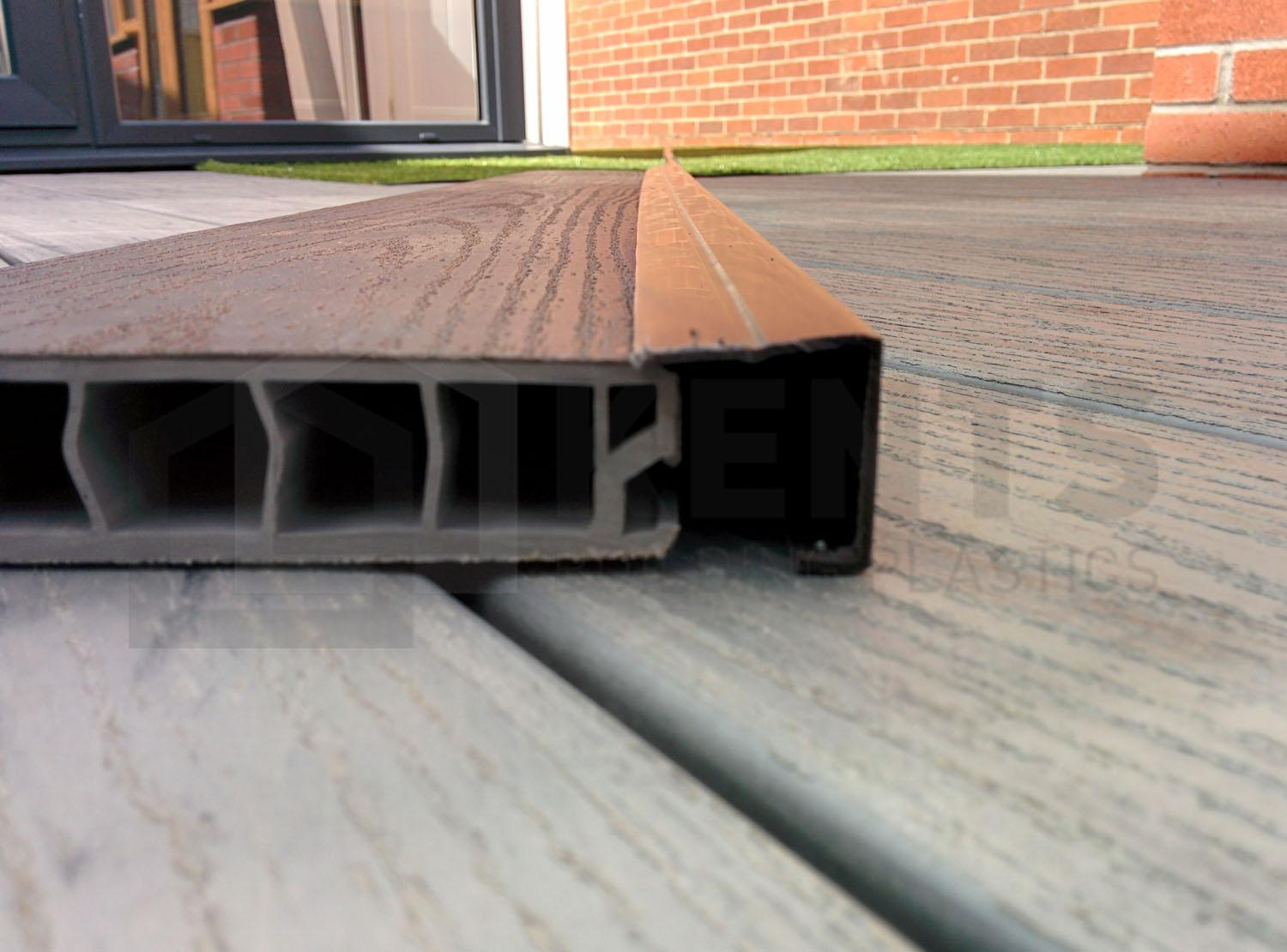 Deck Skirting Walnut Upvc Deck Board Edge Cover Trim 3m