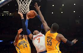 This will be a foul tonight.  There is no level of vertical that will be enough for Roy Hibbert.