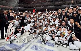 Of all these happy hawks, I would recognize Toews and Kane on the street, and that's a problem with the NHL.