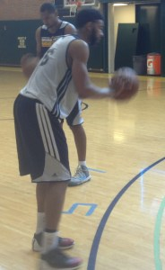 Christian Watford gets ready to put up a shot at the Pacers Summer League Practice today.