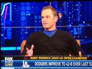 Fox Sports 1 wants you to care about what Andy Roddick thinks about the LA Dodgers.