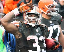 Trent Richardson waves so long to Cleveland, and hello to Indianapolis.