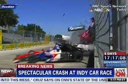 Crashes like Dario Franchiti's in Houston are going to happen, but the piece that was cleared by the Associated Press cannot.