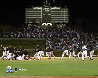 The only noise on the field after the final out of the Cubs 2003 season was made by the 25 men in Florida Marlins uniforms.