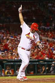 Matt Adams did what a series of Cardinals have done before - hit the ball hard with the game on the line.