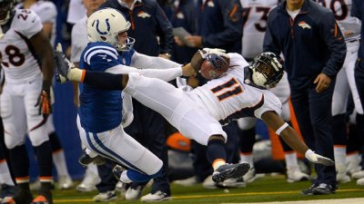 Pat McAfee makes fans laugh, but he can also make an occasional tackle to earn teammates' respect.