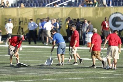 All the king's horses and all the king's men couldn't make that field in Canton playable.