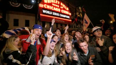 Cubs fans need to celebrating like this until they collapse.
