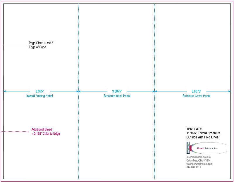 Trifold Brochures Kenwel Printers, Inc