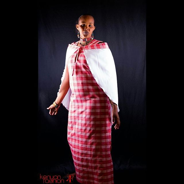 #KenyanFashion Maasai Dress and Glass beads