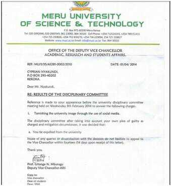 Student Cv Template Example For Students Meru University Student Activist Expelled For Revealing