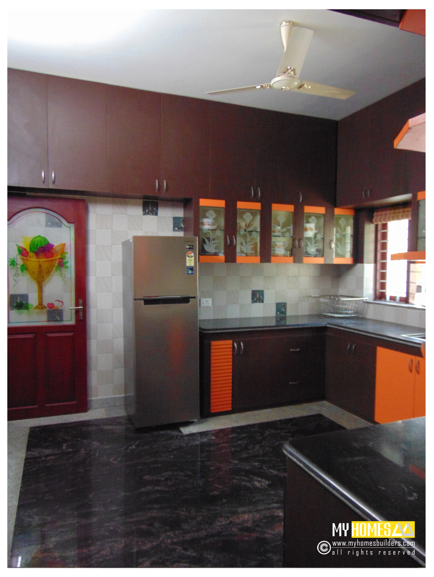 modular style kerala kitchen interior designs homes views comments home kitchen design display