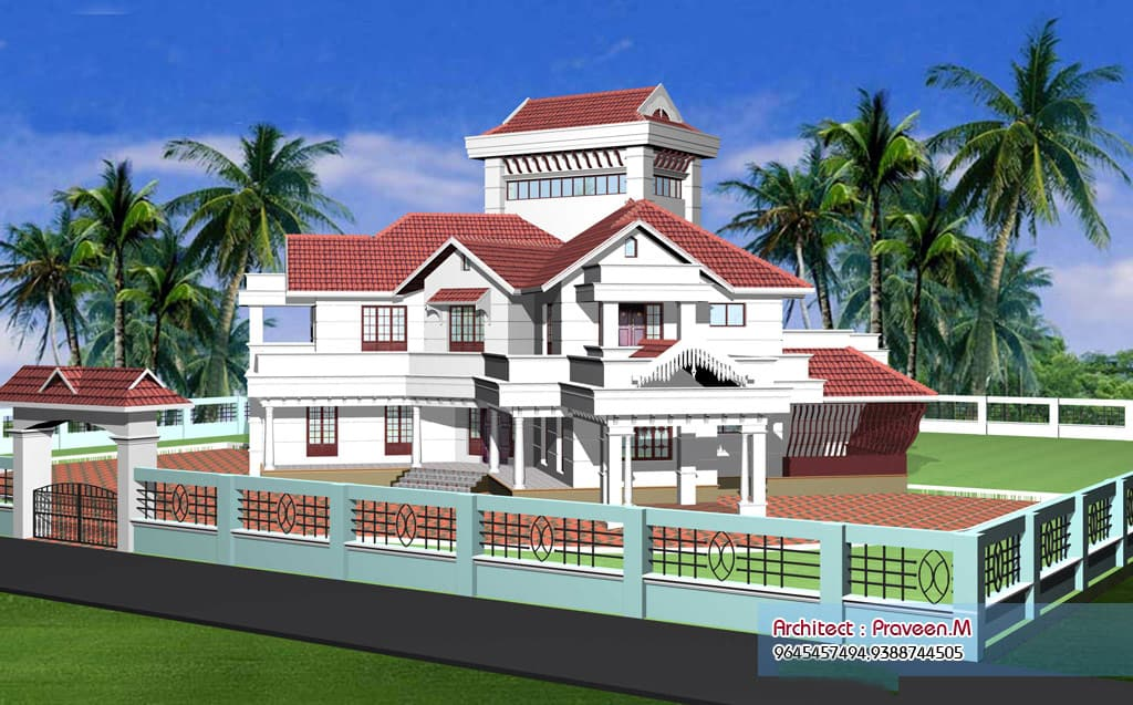 kerala villa elevations beautiful homes sq ft modern house plans designs ideas ark
