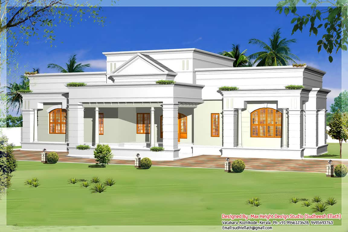 Www.home Design Single Storey Kerala House Model With Kerala House Plans