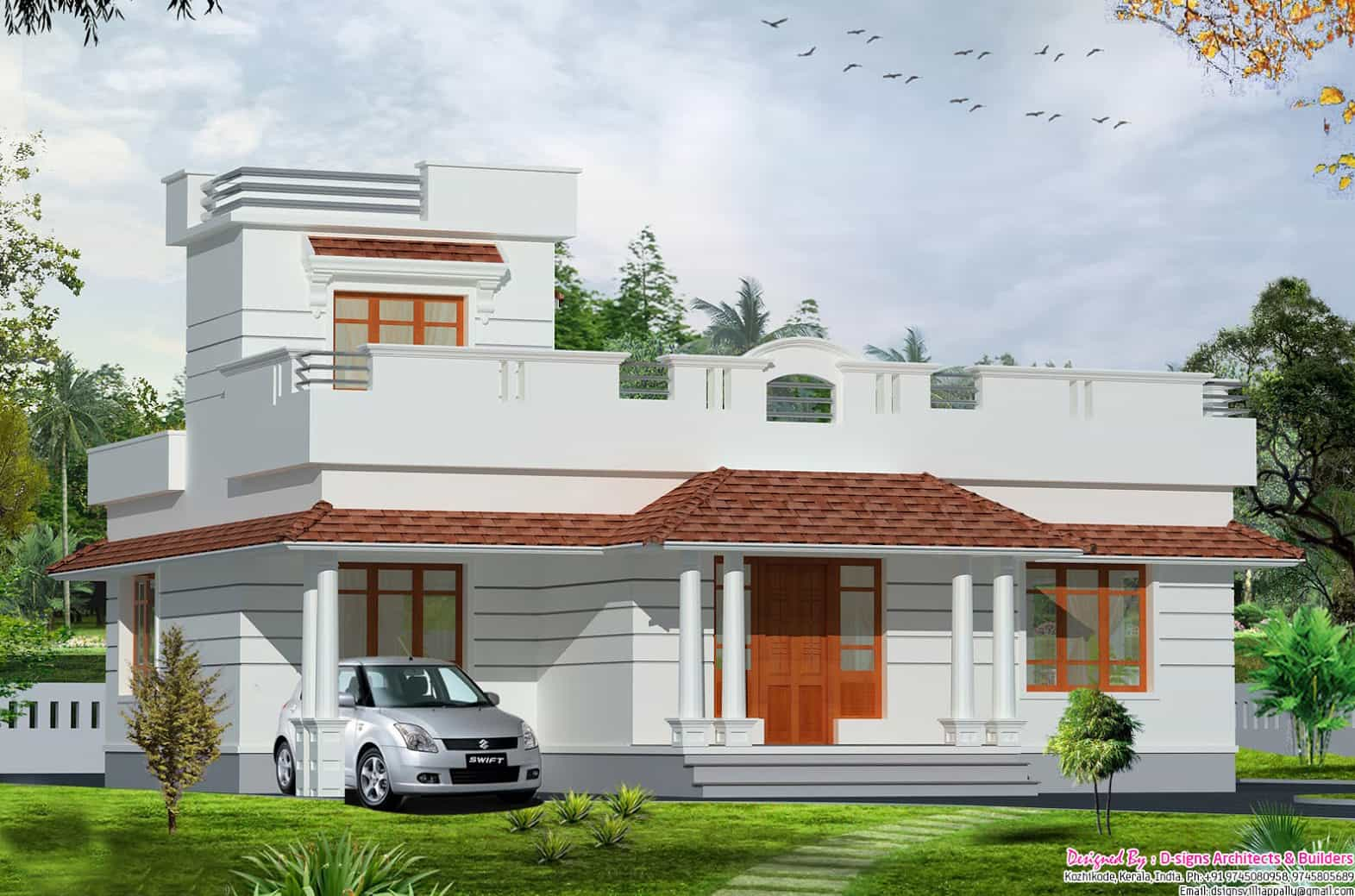House Design One Floor Kerala Style 2bhk Budget Home Design At 1200 Sq.ft.