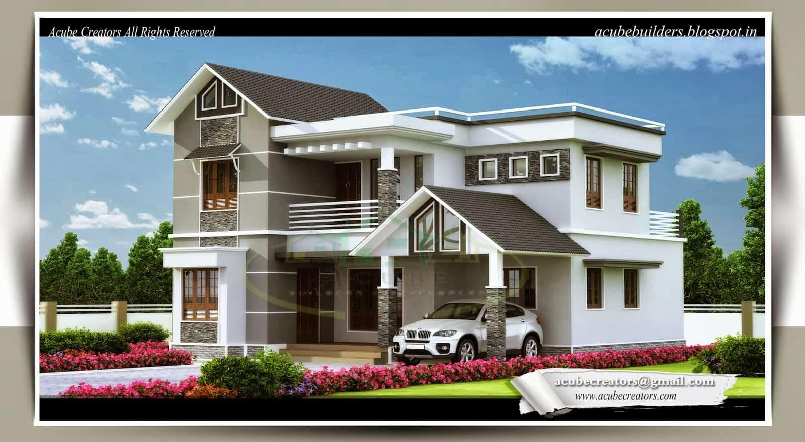 kerala home design bedroom villa sq ft october kerala home design floor plans