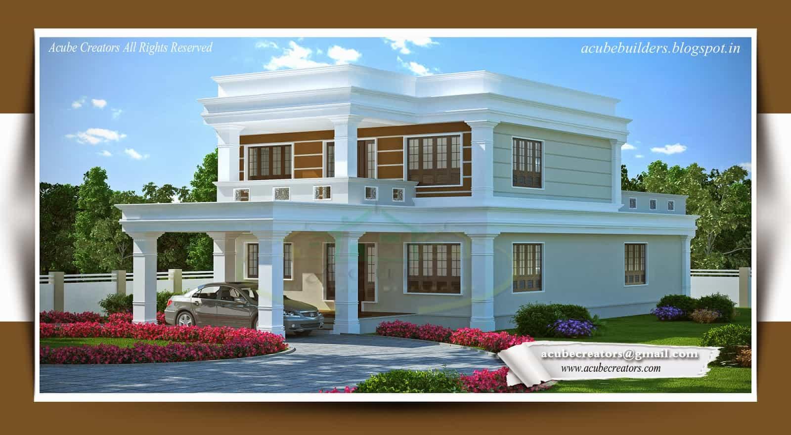 flat style kerala home design sq ft september kerala home design floor plans