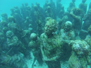 Statues, an amazing underwater art exhibit.