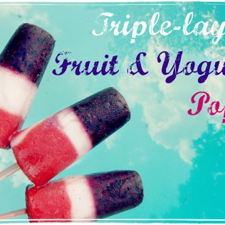 Triple-Layer Fruit and Yogurt Popsicles