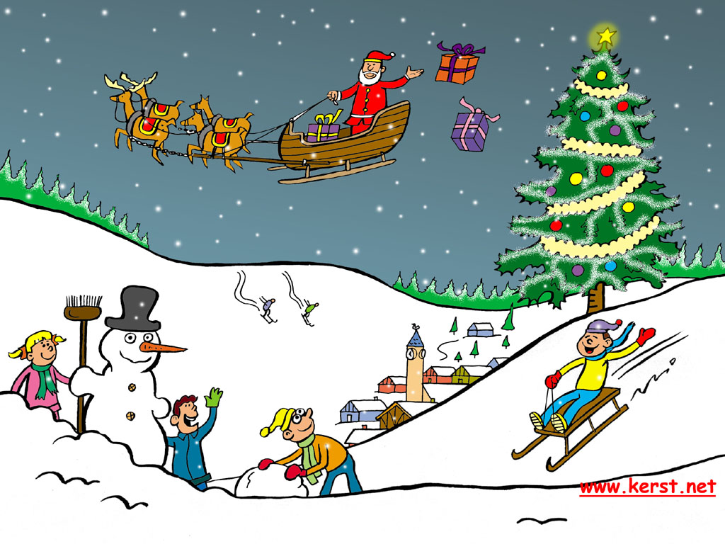 Kerstboom Grappig Wallpapers For Christmas - Windows Desktop Achtergrond