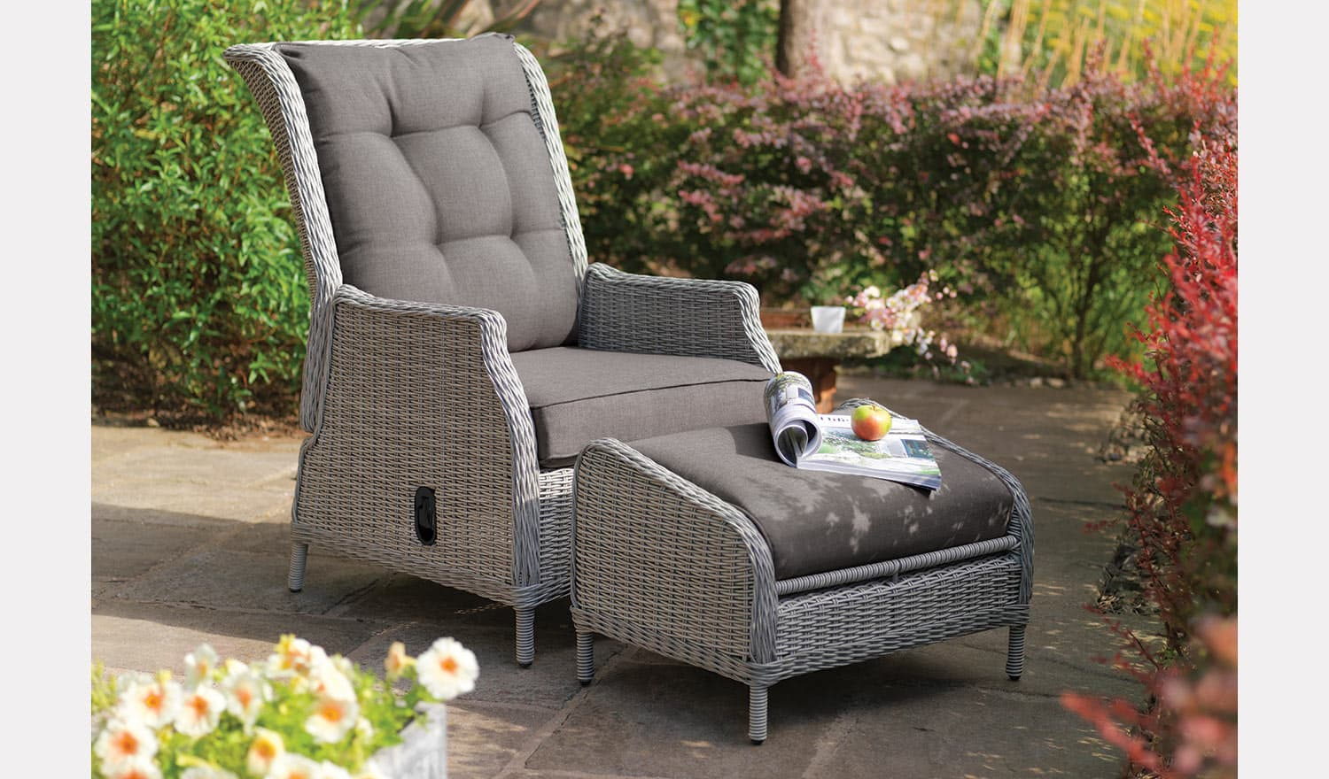 Classic Recliner With Footstool Garden Furniture Kettler Official Site