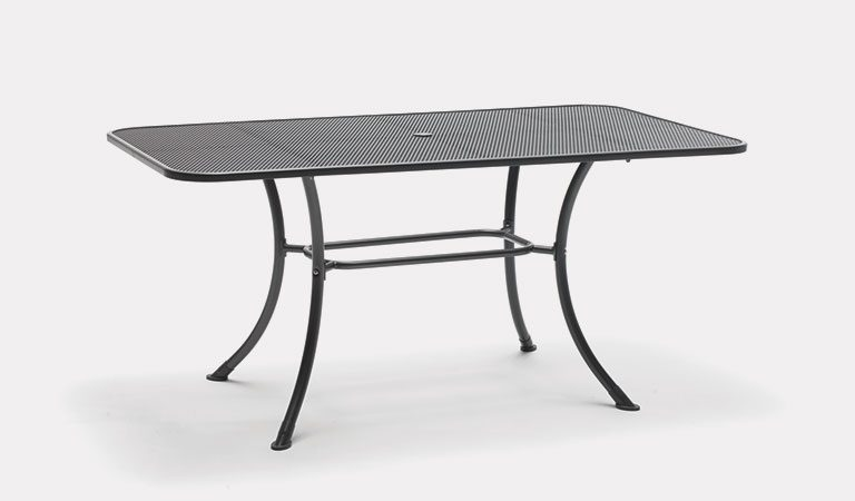 Kettler Elba Henley Mesh Table 160x90cm – Iron Grey - Kettler Official Site