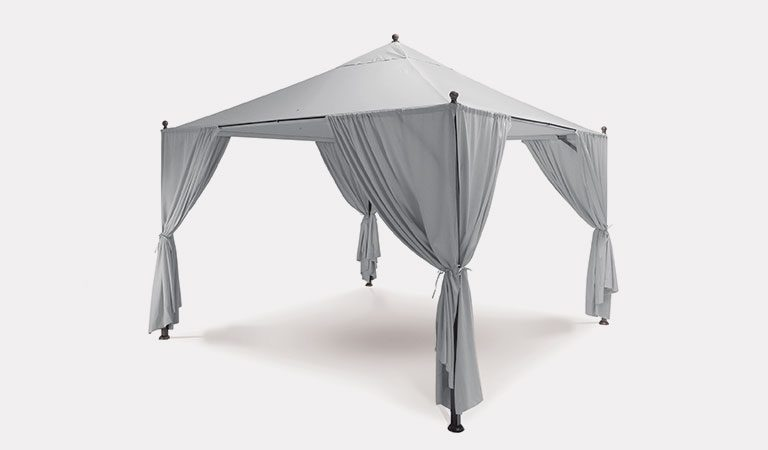 Kettler Elba 3x3m Henley Gazebo, Including Canopy, Curtains & Frame