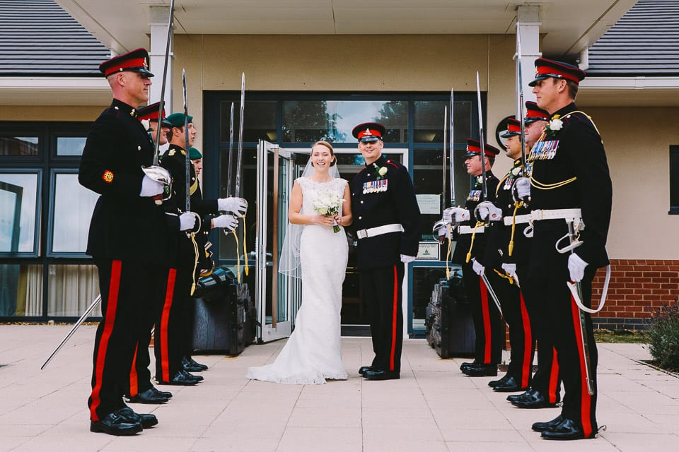 The honour guard outside the Sergeant's mess - Military Wedding