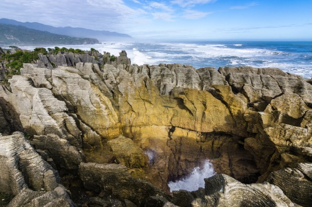Pancake Rocks at Punakaiki, New Zealand