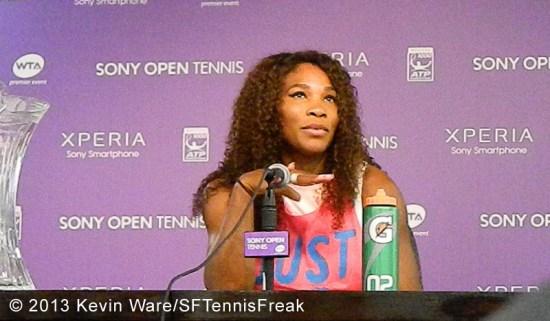 Serena post-match