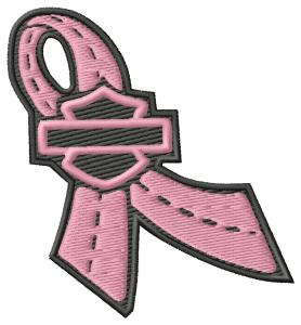FREE Harley Cancer Ribbon Embroidery Design