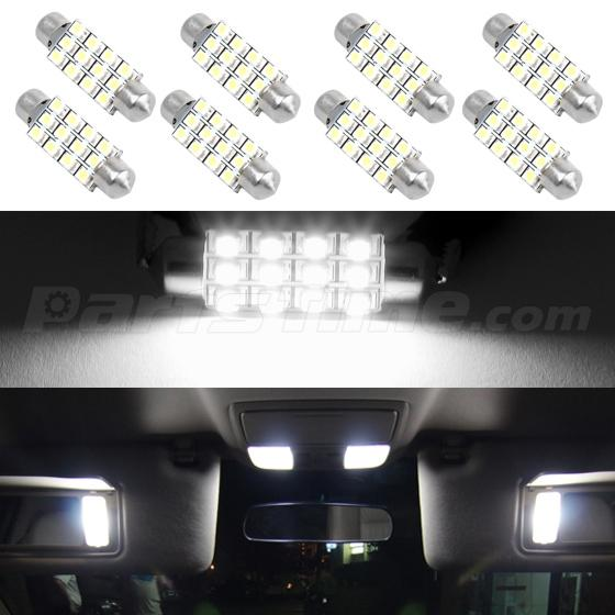 Led Dome Light Bulb Not Working 8x Led 12smd Courtesy Interior Light Bulb Festoon Dome