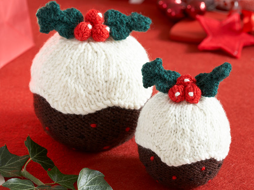 Easy House Plants Christmas Pudding Pattern To Get Knitting For Your Home