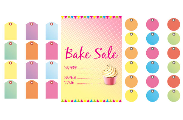 Free bake sale signs and labels - free for sale signs for cars