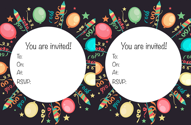 FREE printable children\u0027s birthday party invitations