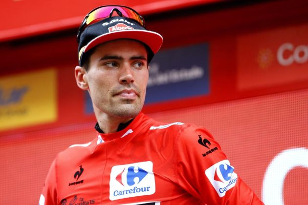 Tom Dumoulin on stage ten of the 2015 Tour of Spain