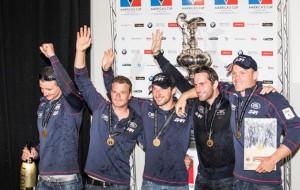 Land Rover BAR recieve their trophy