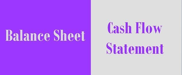 Difference Between Balance Sheet and Cash Flow Statement - Key