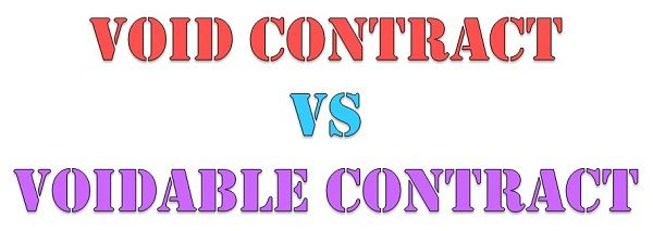 Difference Between Void Contract and Voidable Contract (with - Differences Contract Agreement