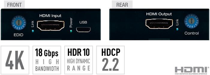 KD-FIX418 - 4K/18G HDMI Fixer, Booster, Buffer of EDID, HDCP, Hot