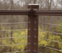 Horizontal Cable Infill Railing System - Key-Link Fencing ...