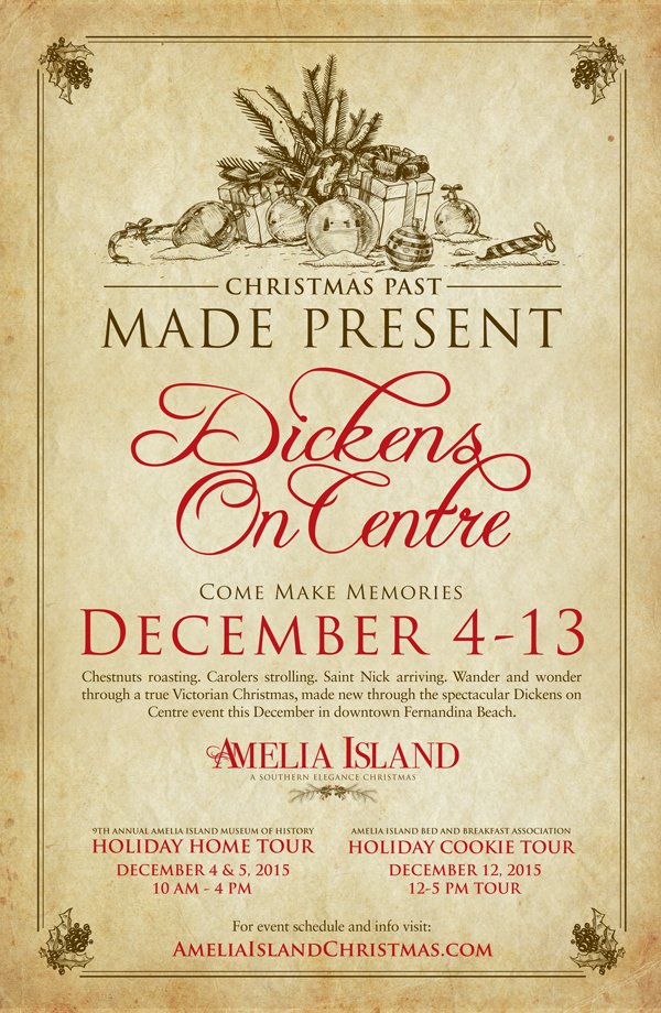 Amelia Island Christmas Graphic