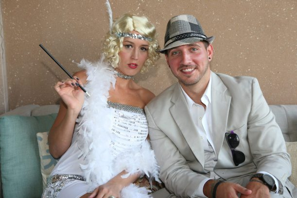 Brittany Harvey and Courtland Wood have a 'flapper' vibe.