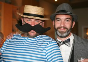 Brad Buckles and John Rouge showcase formal and informal fashion.