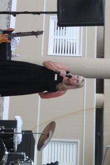 Zonta Club Executive Director Roberta DePiero introduces the event.