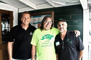 Turtle Kraals' Michael Schultz alongside Save-A-Turtle's Ralph Capone and President, Harry Appel.