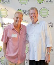 Hosts Stan Zuba and Eric Anderson host the gala at their waterfront home in Tavernier.