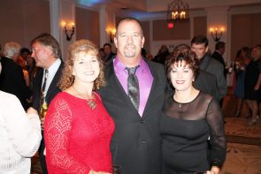 Keys Federal Credit Union's Mary Lou Carn and husband Rick with Key West Chamber EVP Virginia Panico.