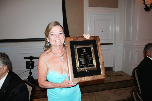 Kim Works was honored with the Hall of Fame award for her life time of devotion to the Key West business and civic community.
