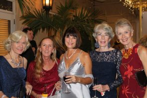 Debbie Mason, Holly Merrill, Mimi McDonald, Bunnie Smith and Mary Ann Westerlund enjoy the function.